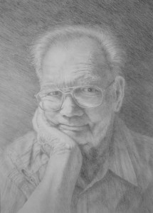 drawing old man with glasses