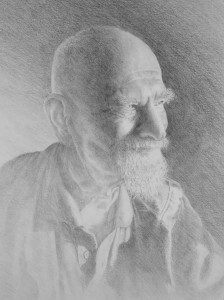drawing of old man